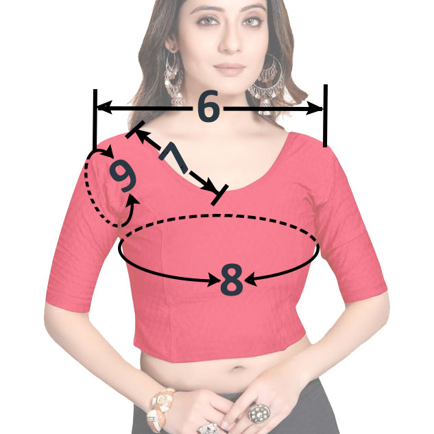 Lehenga Choli Measurement Form